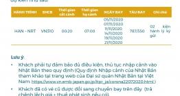 MỞ BÁN CHUYẾN BAY QUỐC TẾ HAN-NTR NOV2020