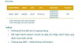 VIETNAM AIRLINES CNMB THÔNG BÁO MỞ BÁN CHUYẾN BAY HAN-NRT NGÀY 18-23-25-30SEP20